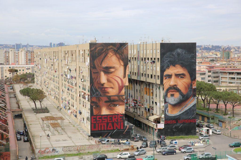 I messaggi nascosti nei murales di Jorit (Niccolo' e Maradona)
