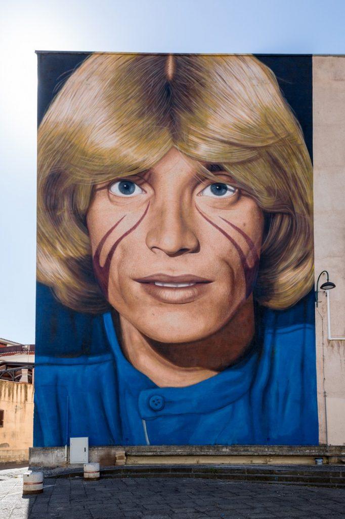 Murale di Nino D'Angelo - San Pietro a Patierno