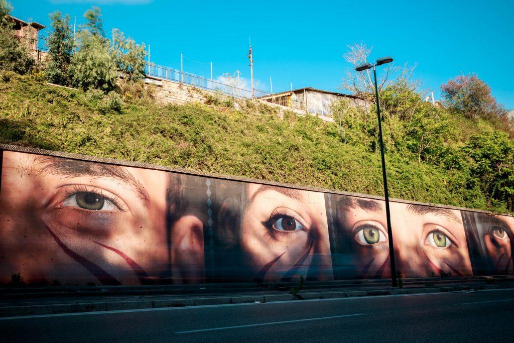 I messaggi nascosti nei murales di Jorit (Occhi Pianura)